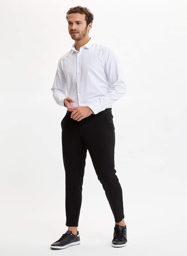 DeFacto Slim Fit Basic Gömlek Beyaz